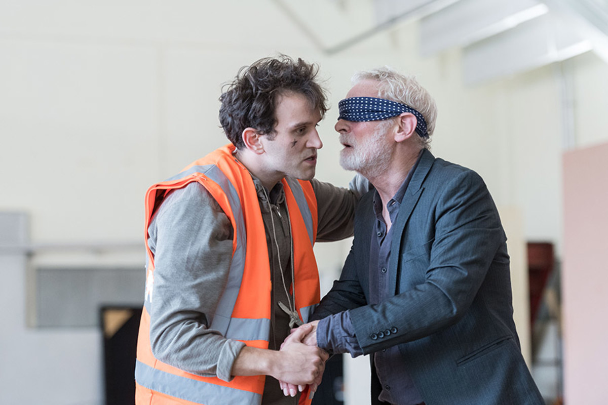 Harry Melling and Karl Johnson in rehearsal for King Lear at The Old Vic (Photo: Manuel Harlan)