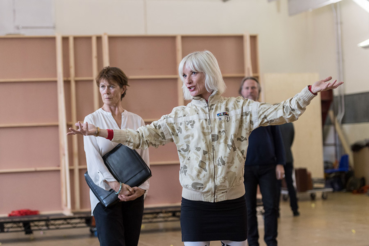 Celia Imrie and Jane Horrocks in rehearsal for King Lear at The Old Vic (Photo: Manuel Harlan)