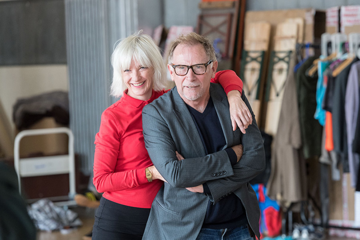 Jane Horrocks and Danny Webb in rehearsal for King Lear at The Old Vic (Photo: Manuel Harlan)
