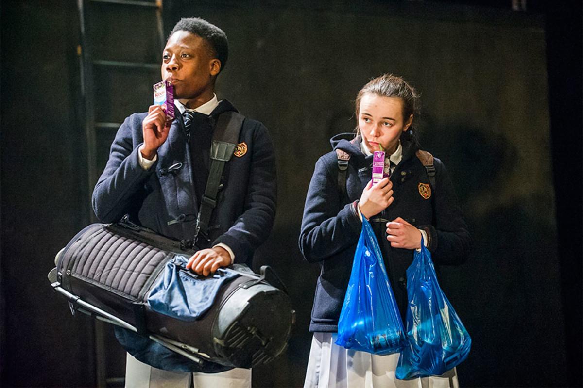 Moses Adejimi and Ella McLoughlin in Herons at the Lyric Hammersmith (Photo: Tristram Kenton)