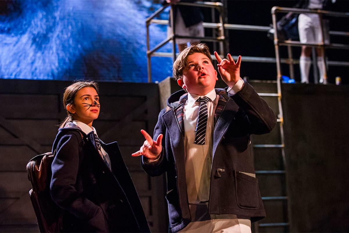Sophia Decaro and Max Gill in Herons at the Lyric Hammersmith (Photo: Tristram Kenton)