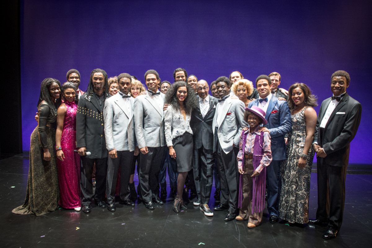 Duke Fakir with the cast of Motown the Musical (Photo: Craig Sugden)