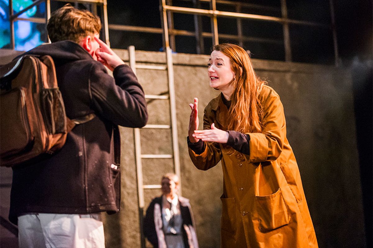 Max Gill and Sophie Stone in Herons at the Lyric Hammersmith (Photo: Tristram Kenton)