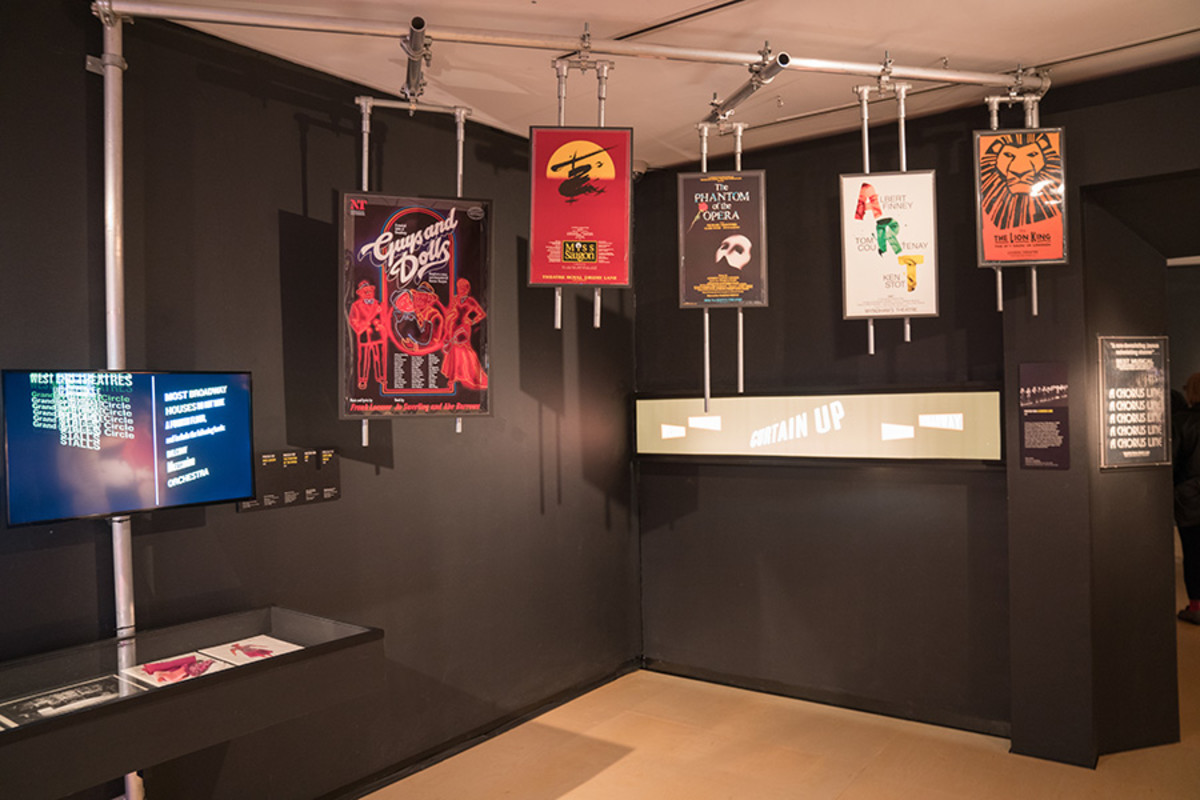 Installation view of the Curtain Up Exhibition (copyright Jonathan Blanc & New York Public Library)