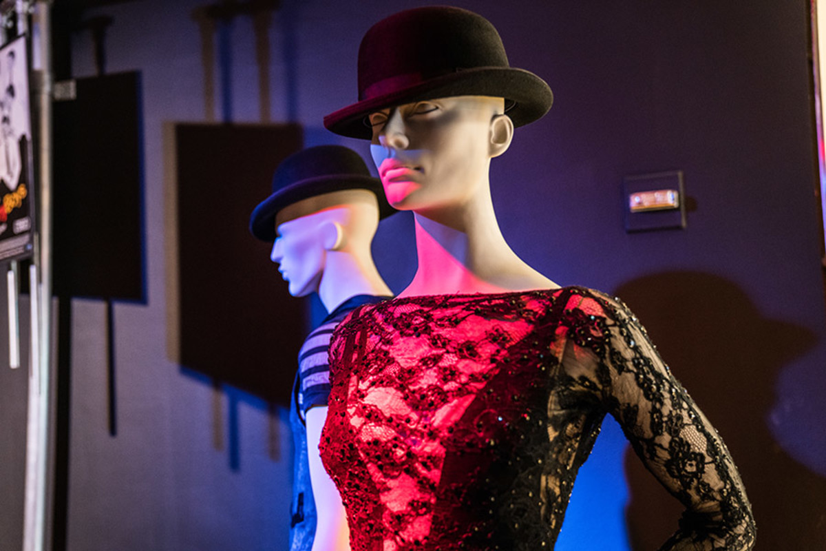 Costume Worn by Ruthie Henshall as Roxie in Chicago at the Curtain Up Exhibition (copyright Jonathan Blanc & New York Public Library)