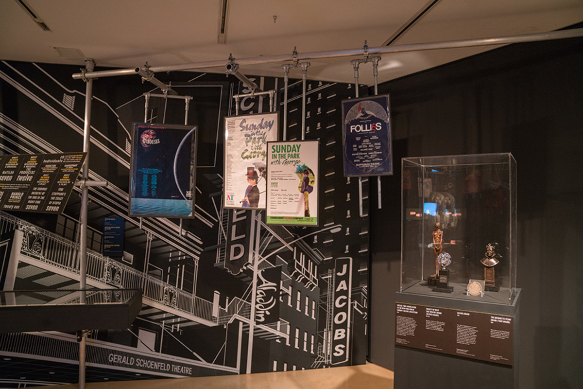 Posters and Awards in the Curtain Up Exhibition (copyright Jonathan Blanc & New York Public Library)