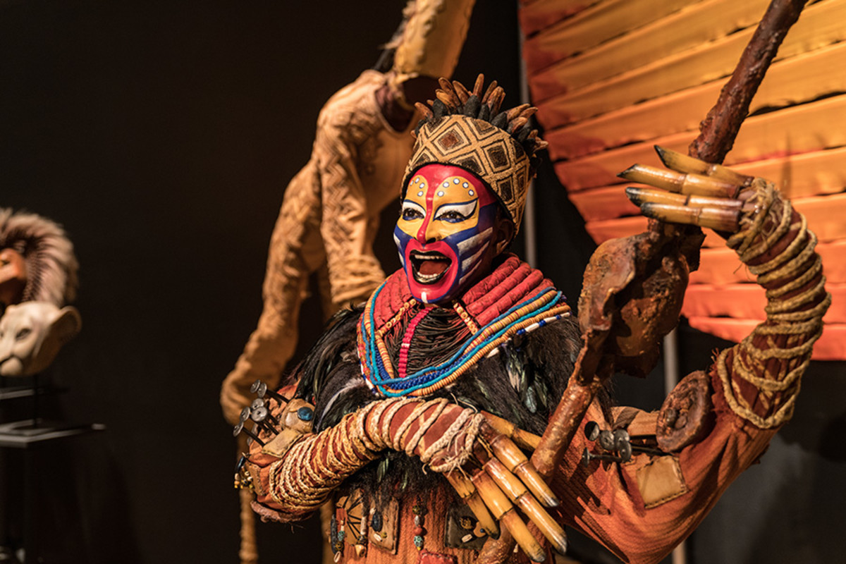 Rafiki from The Lion King at the Curtain Up Exhibition (copyright Jonathan Blanc & New York Public Library)