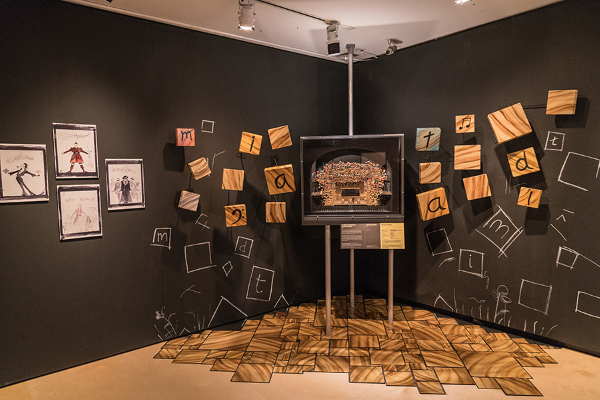 Set model and designs for Matilda The Musical at the Curtain Up Exhibition (copyright Jonathan Blanc & New York Public Library)
