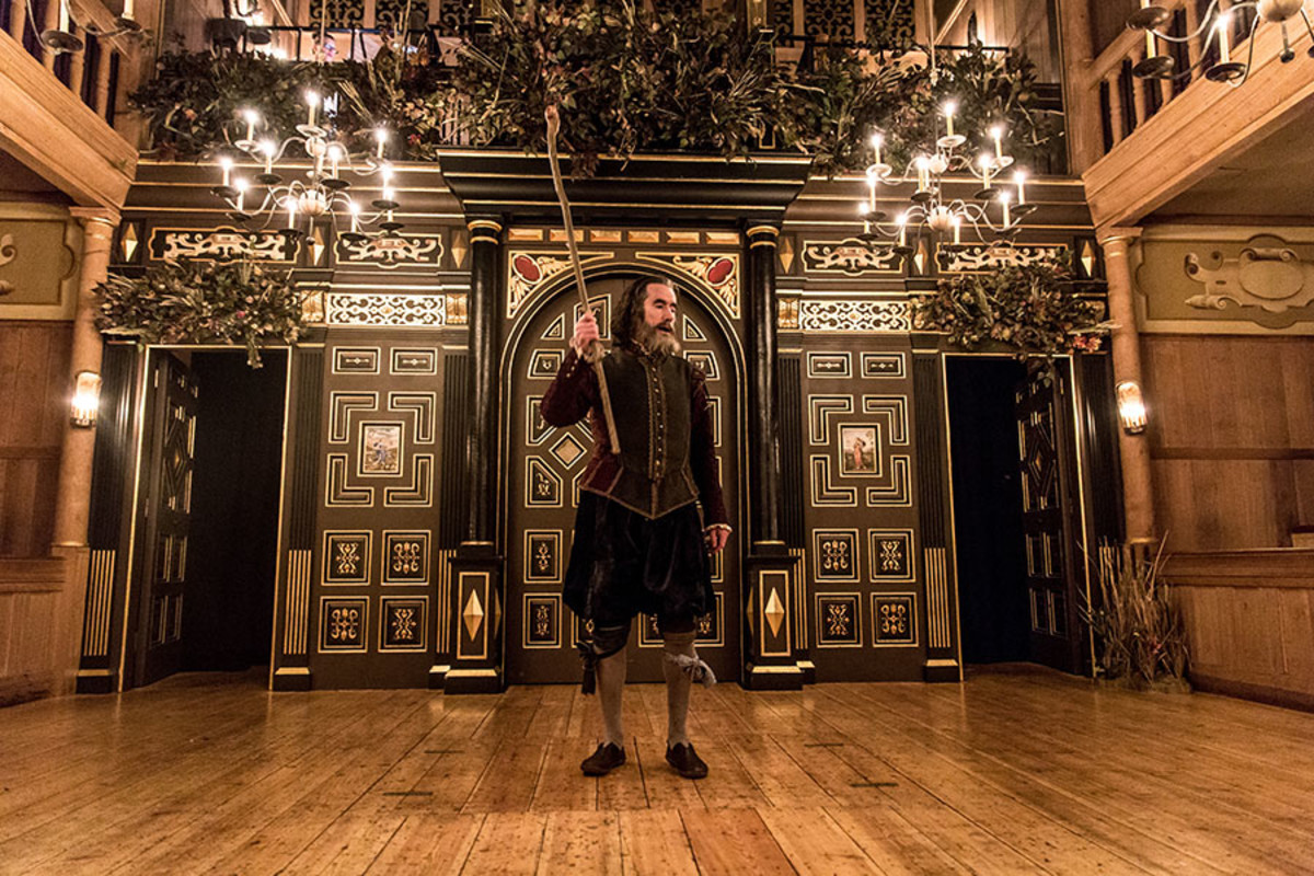 Tim McMullan in The Tempest at the Sam Wanamaker Playhouse (Photo: Marc Brenner)