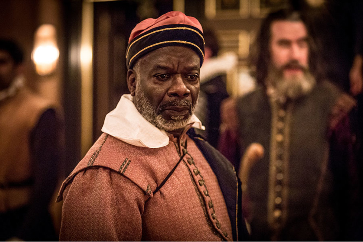 Joseph Marcell in The Tempest at the Sam Wanamaker Playhouse (Photo: Marc Brenner)