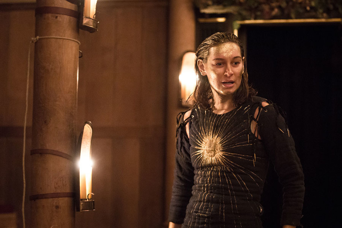Pippa Nixon in The Tempest at the Sam Wanamaker Playhouse (Photo: Marc Brenner)