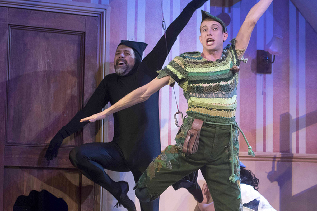 Daniel Pitout and Oliver Senton in Peter Pan Goes Wrong (Photo: Alistair Muir)