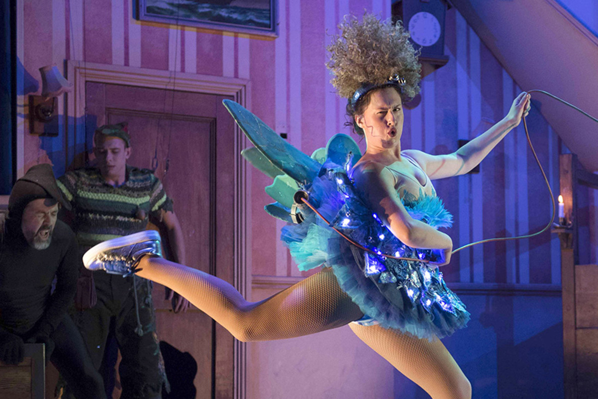 Adeline Waby in Peter Pan Goes Wrong (Photo: Alistair Muir)