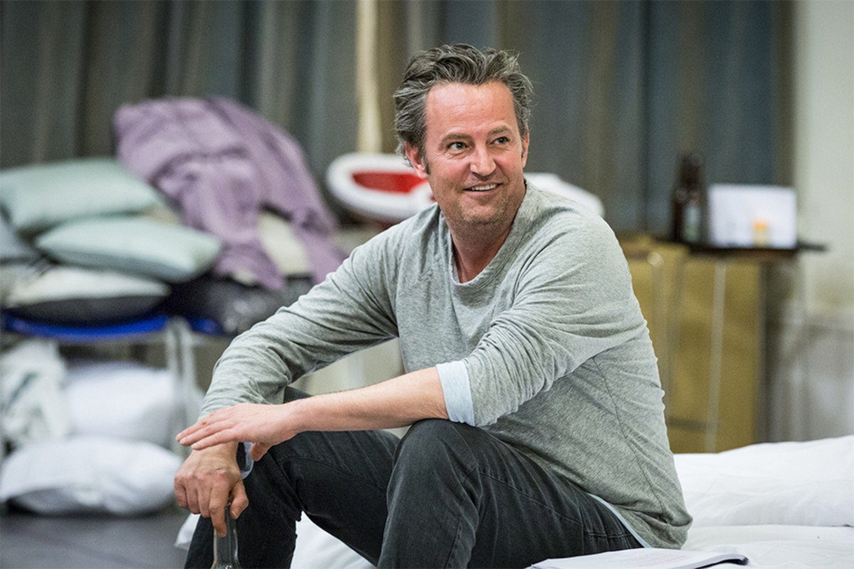 Matthew Perry in rehearsal for The End Of Longing (Photo: Marc Brenner)