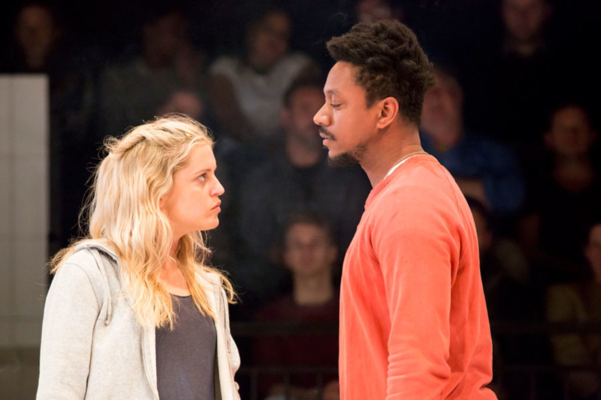 Denise Gough and Nathaniel Martello White in People, Places And Things (Photo: Johan Persson)