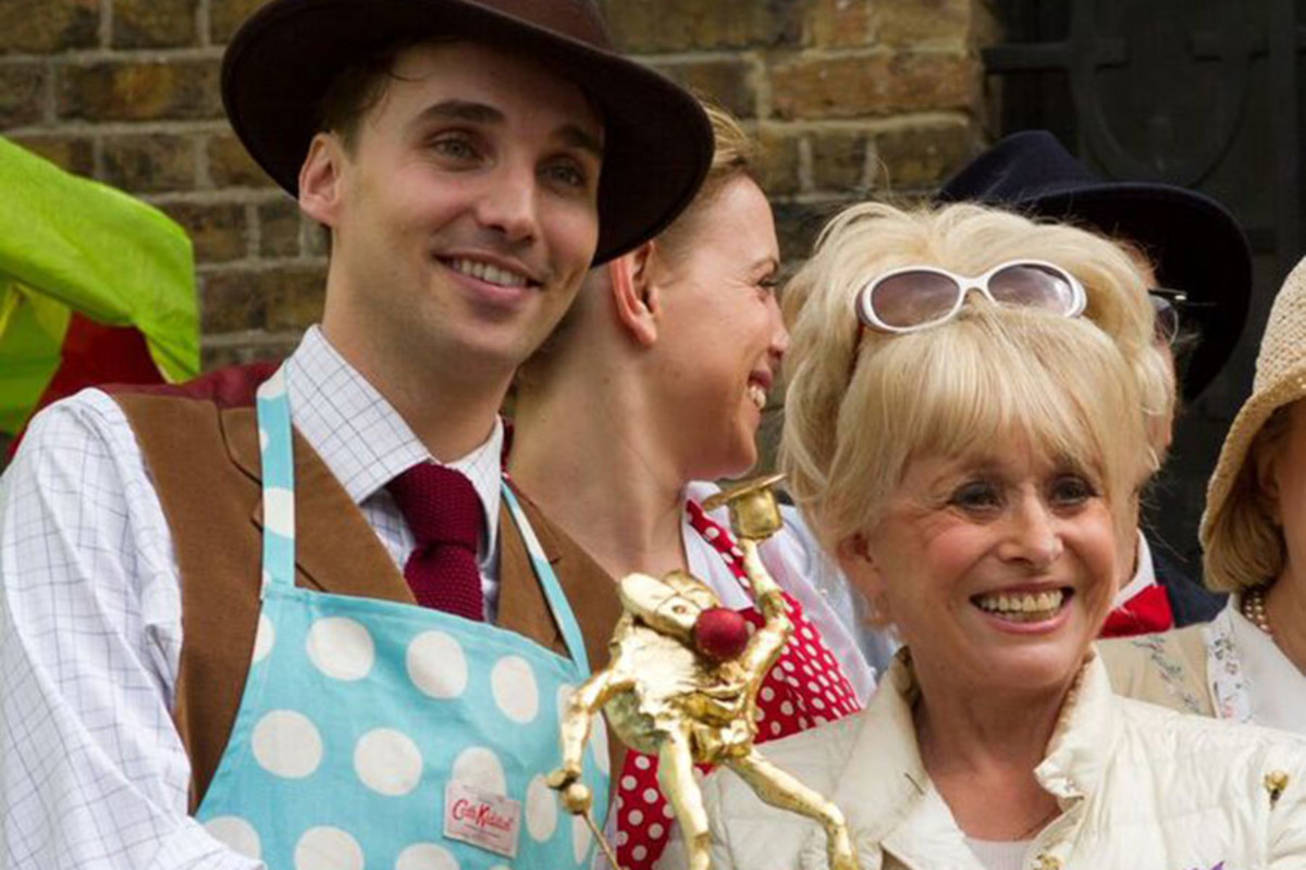 Last year's West End Bake Off winner, The Mousetrap, with Dame Barbara Windsor