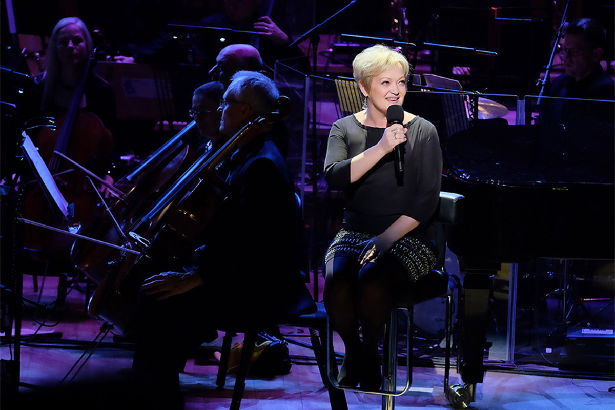 Director Maria Friedman takes to the stage to perform at The Oliviers In Concert (Photo: BBC/Mark Allan)