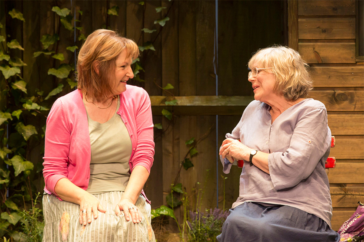 Deborah Findlay and Kika Markham in Escaped Alone at the Royal Court Theatre (Photo: Johan Persson)