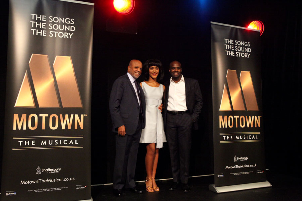 Berry Gordy, Lucy St. Louis and Cedric Neal at the launch of Motown The Musical (Photo: Craig Sugden)
