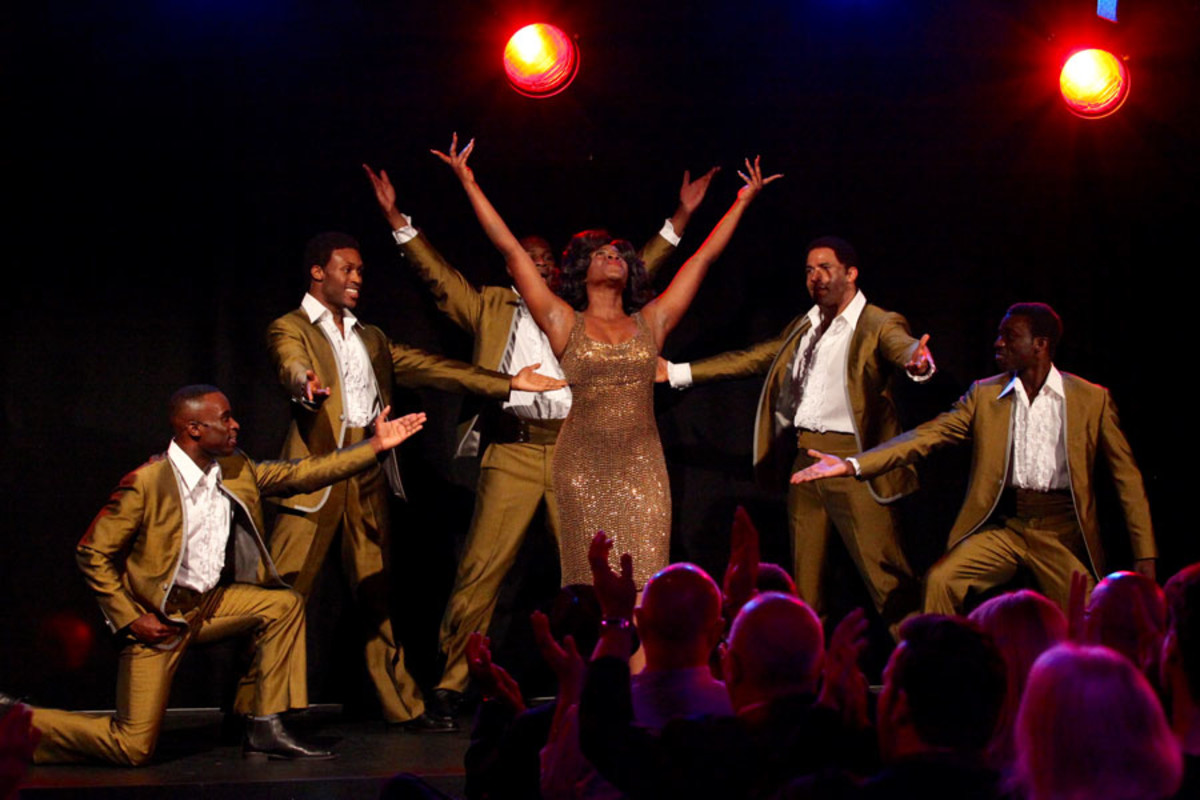 Motown The Musical's The Temptations and Martha Reeves perform at the show's launch (Photo: Craig Sugden)
