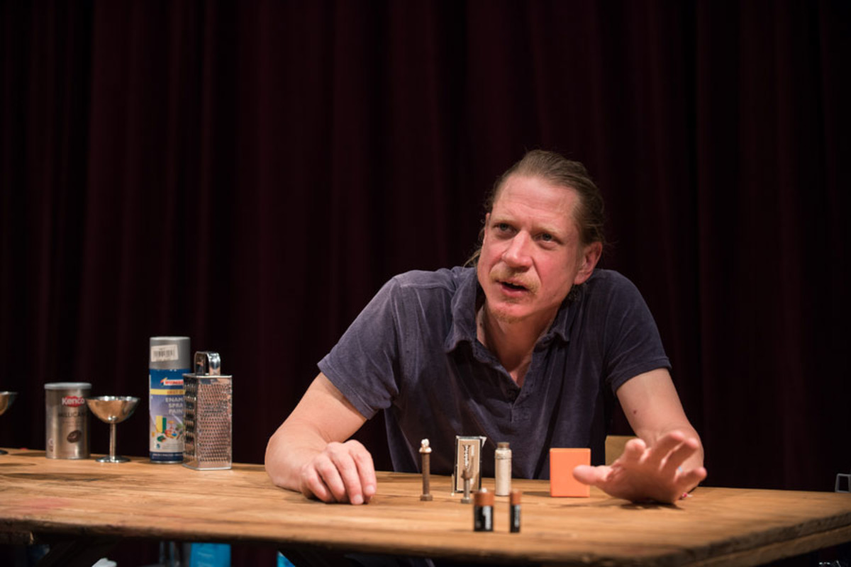 Jerry Killick in Complete Works: Table Top Shakespeare, Forced Entertainment (image credit: Hugo Glendinning)