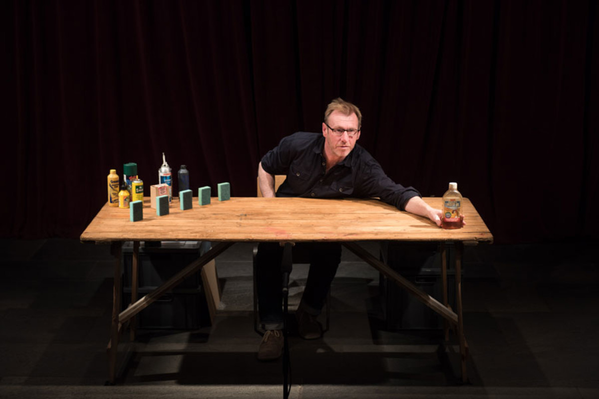 Richard Lowdon in Complete Works: Table Top Shakespeare, Forced Entertainment (image credit: Hugo Glendinning)