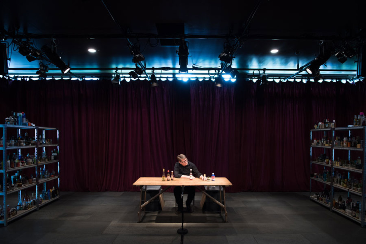 Robin Arthur in Complete Works: Table Top Shakespeare, Forced Entertainment (image credit: Hugo Glendinning)