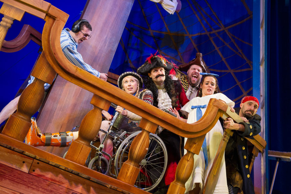 The cast of Peter Pan Goes Wrong (Photo: Alastair Muir)
