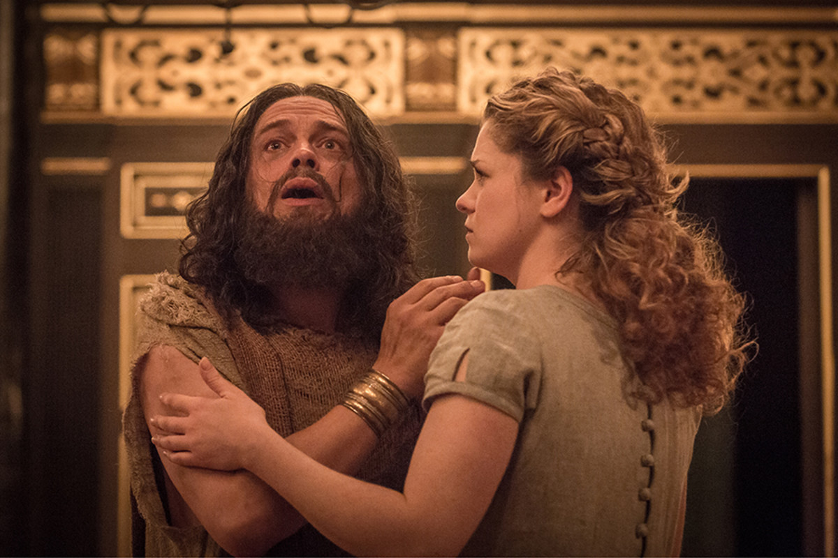 James Garnon and Jessica Baglow star in Pericles at the Sam Wanamaker Playhouse (Photo: Marc Brenner)