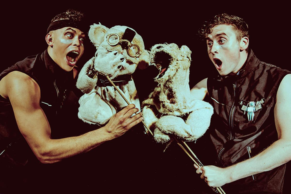 Aaron Heffernan and Eoghan Quinn in Bears In Space, playing at Soho Theatre