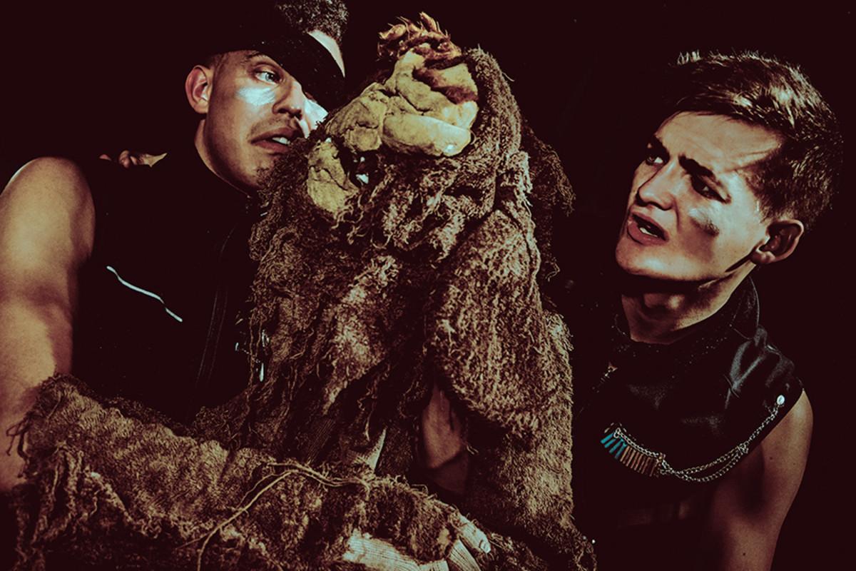 Aaron Heffernan and Jack Gleeson in Bears In Space, playing at Soho Theatre