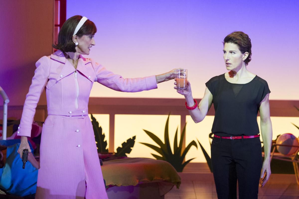 Haydn Gwynne and Tamsin Greig in Women On The Verge Of A Nervous Breakdown (Photo: Alastair Muir)