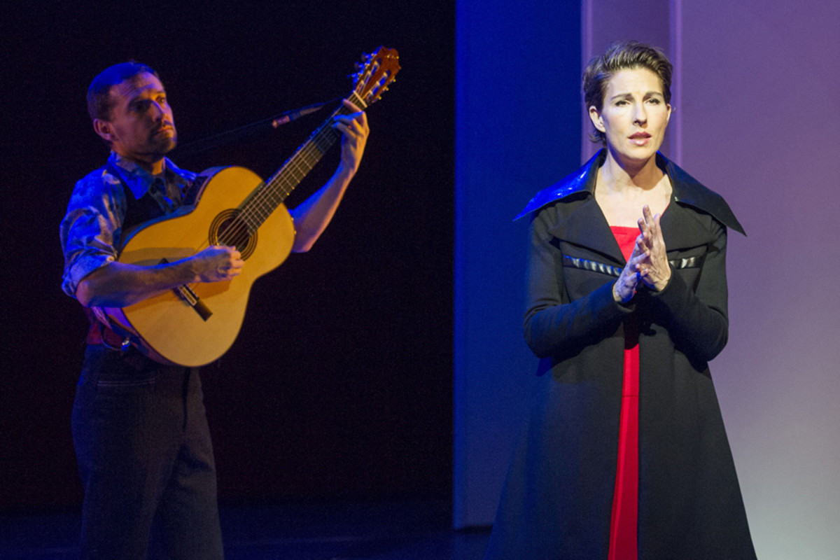 Ricardo Afonso and Tamsin Greig in Women On The Verge Of A Nervous Breakdown (Photo: Alastair Muir)