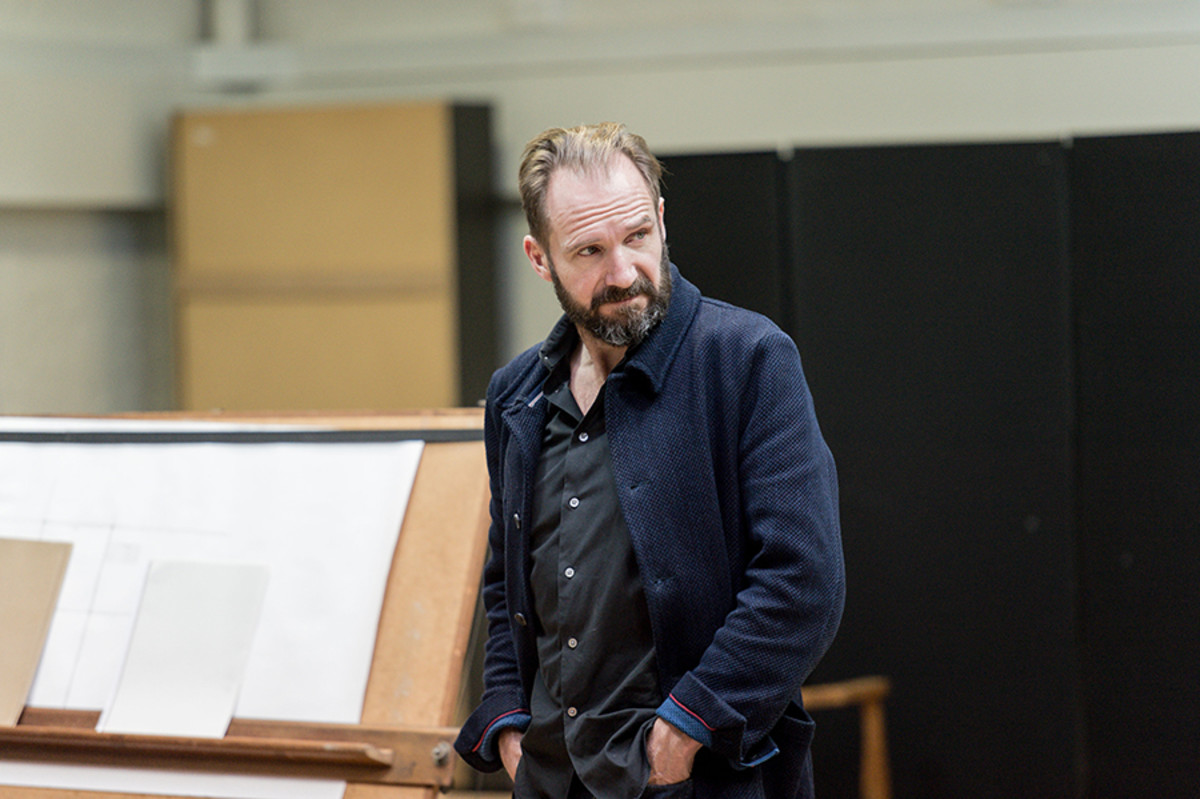 Ralph Fiennes in rehearsal for The Master Builder at The Old Vic (Photo: Manuel Harlan)