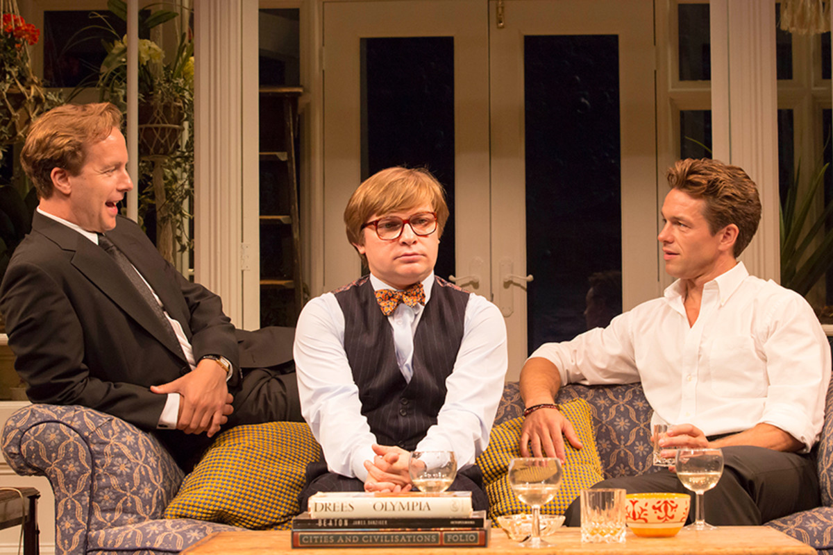 Geoffrey Streatfield, Jonathan Broadbent and Julian Ovenden in My Night With Reg (Photo: Johan Persson)