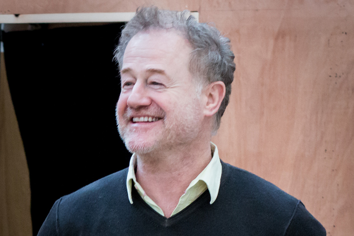 Owen Teale in rehearsals for The Broken Heart, playing at the Sam Wanamaker Playhouse (Photo: Helena Miscioscia)
