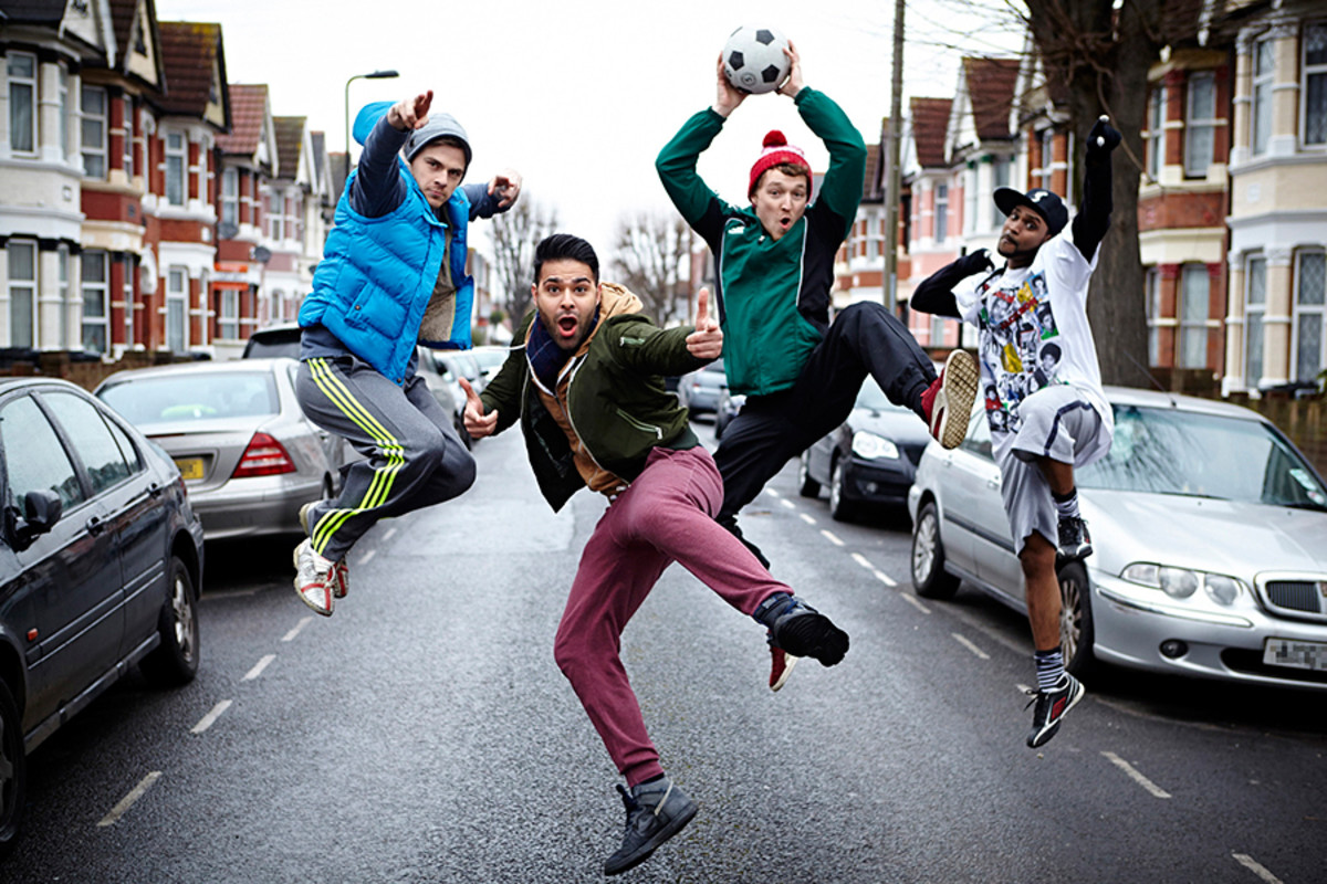 Bend It Like Beckham The Musical's Tom Millen, Jamal Andréas, Daniel Bolton and Jorell Coiffic Kamall (Photo: Uli Weber)