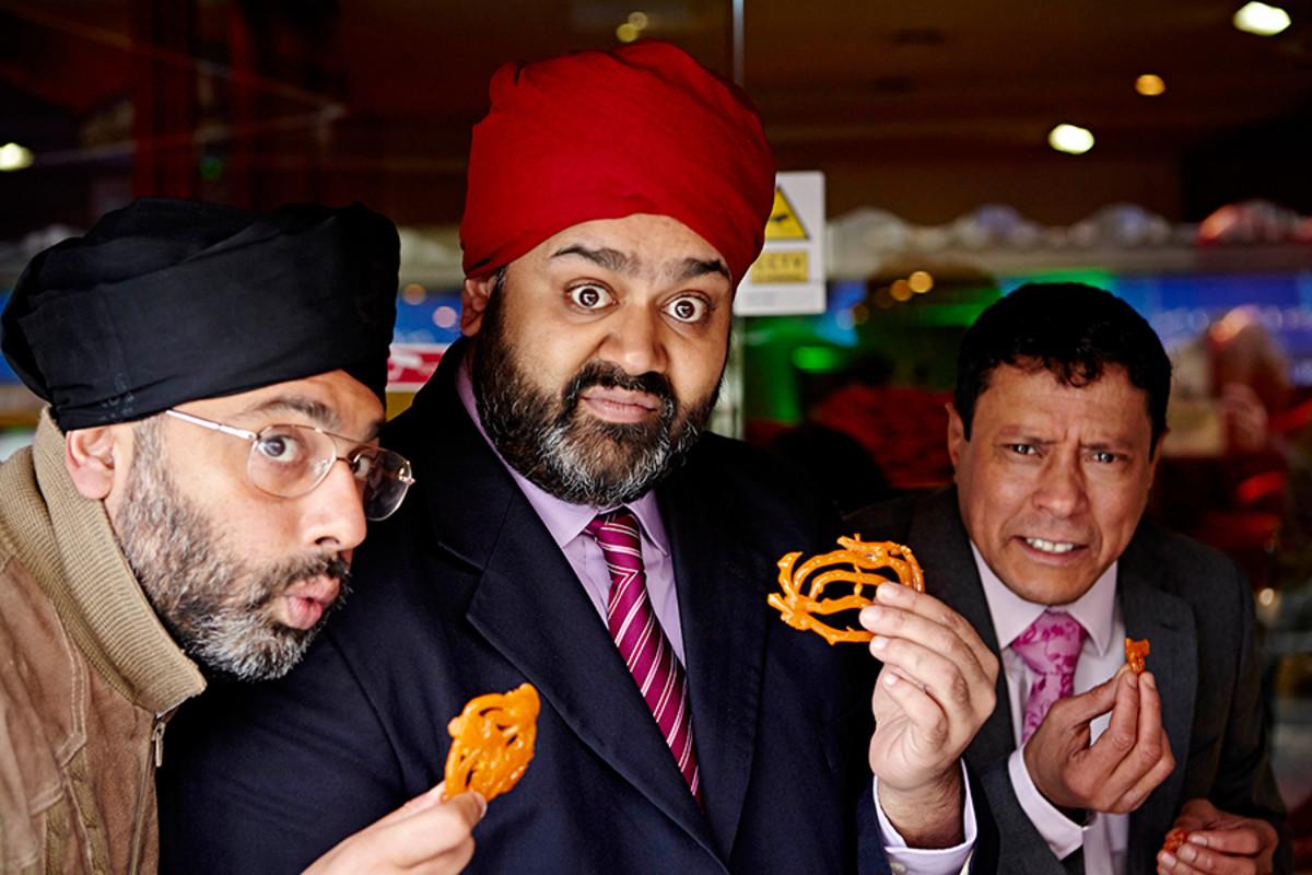 Bend It Like Beckham The Musical's Irvine Iqbal, Tony Jayawardena and Karl Seth (Photo: Uli Weber)