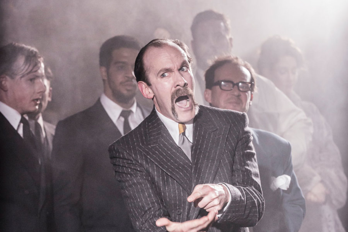Simon Paisley Day stars in Urinetown at the St James Theatre (Photo: Johan Persson)