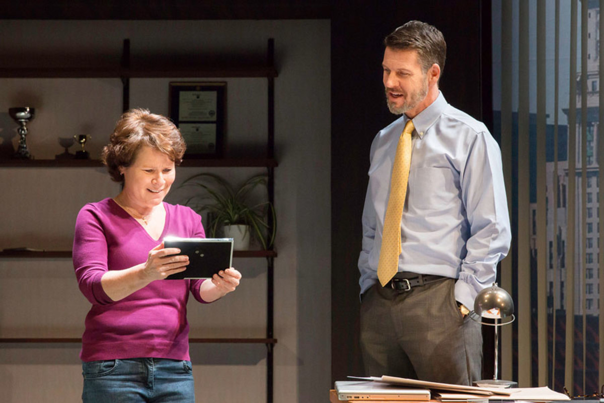 Imelda Staunton and Lloyd Owen in Good People at the Hampstead Theatre (Photo: Johan Persson)