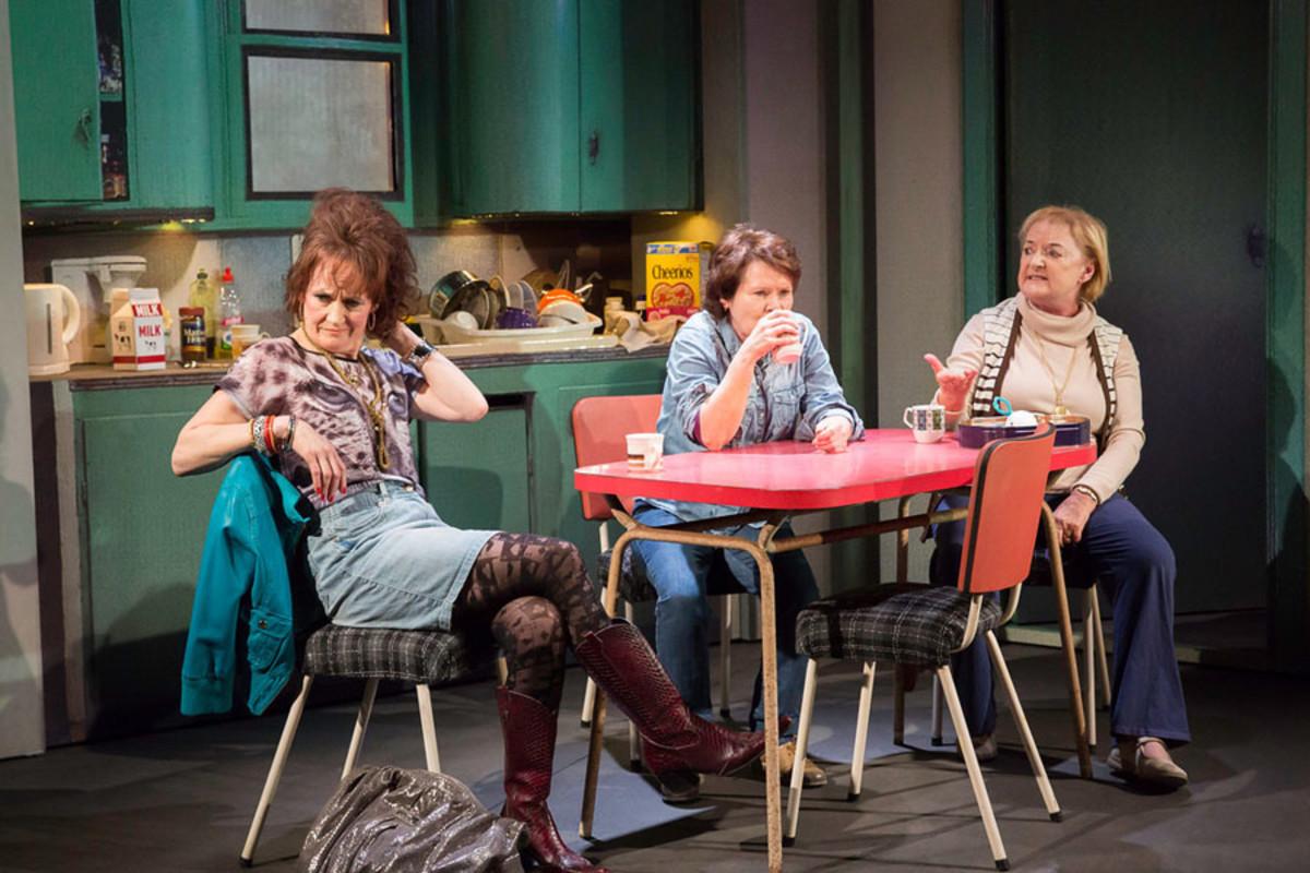 Lorraine Ashbourne, Imelda Staunton and June Watson in Good People at the Hampstead Theatre (Photo: Johan Persson)