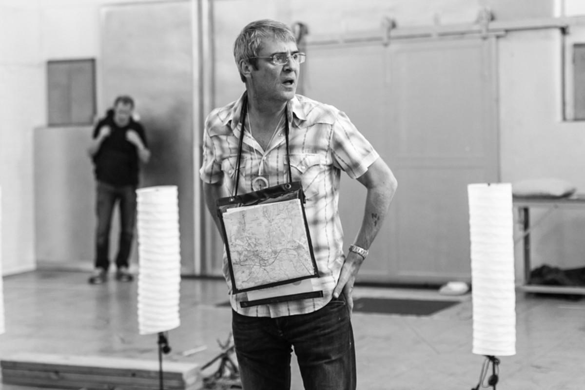 Neil Morrissey in rehearsal for Neville's Island (Photo: Darren Bell)