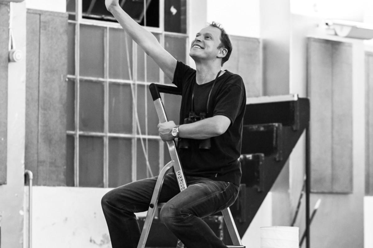 Robert Webb in rehearsal for Neville's Island (Photo: Darren Bell)