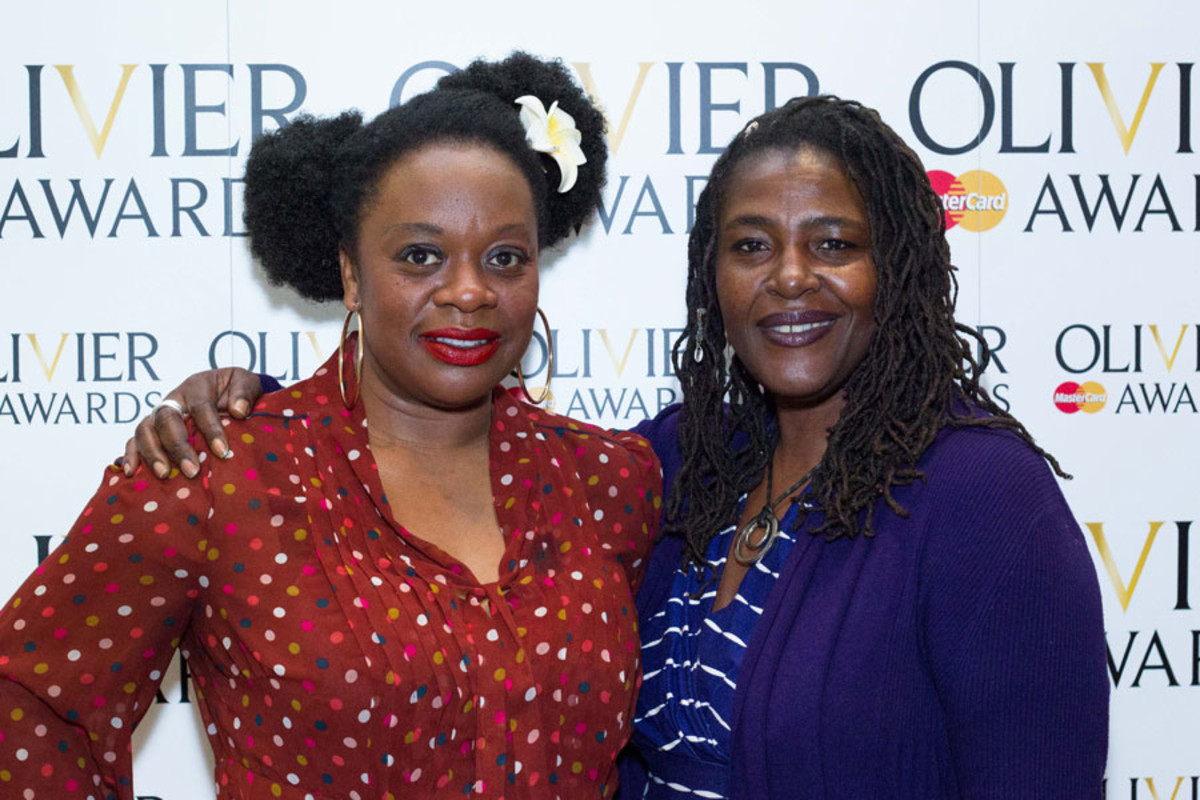 Cecilia Noble and Sharon D Clarke at the Olivier Awards Nominees Lunch 2014