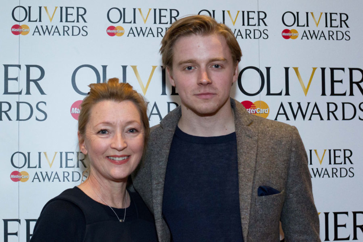 Lesley Manville and Jack Lowden at the Olivier Awards Nominees Lunch 2014