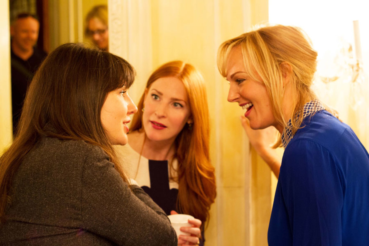 Rosalie Craig and Katherine Kingsley at the Olivier Awards Nominees Lunch 2014