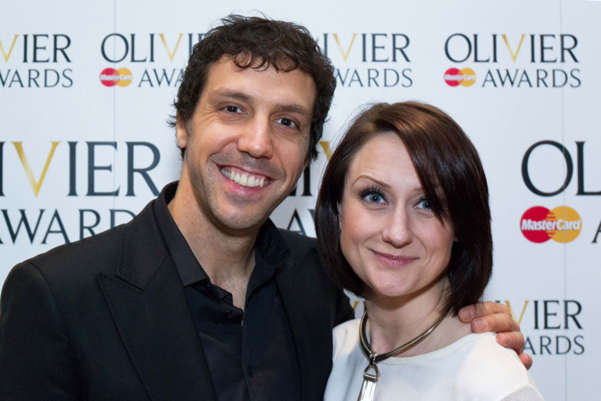 Alex Gaumond and Kay Murphy at the Olivier Awards Nominees Lunch 2014
