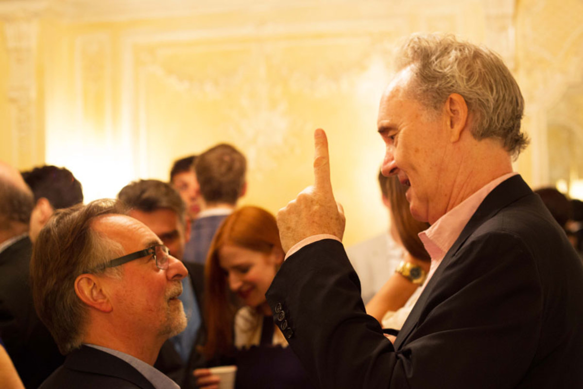 Ron Cook and Nigel Planer at the Olivier Awards Nominees Lunch 2014