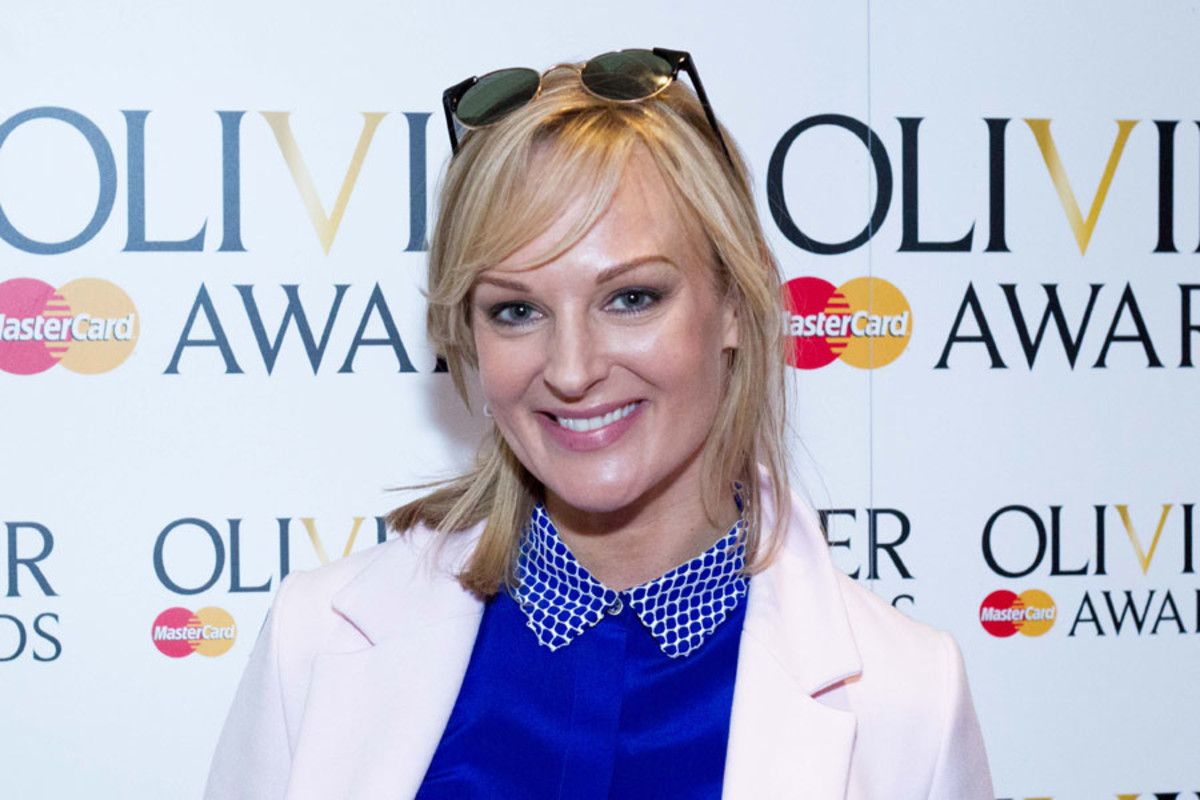 Katherine Kingsley at the Olivier Awards Nominees Lunch 2014