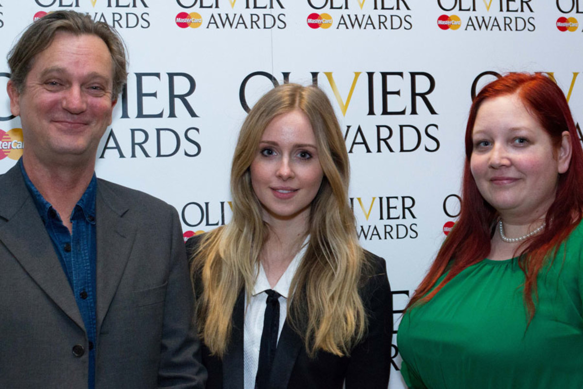 The cast of The Duck House at the Olivier Awards Nominees Lunch 2014